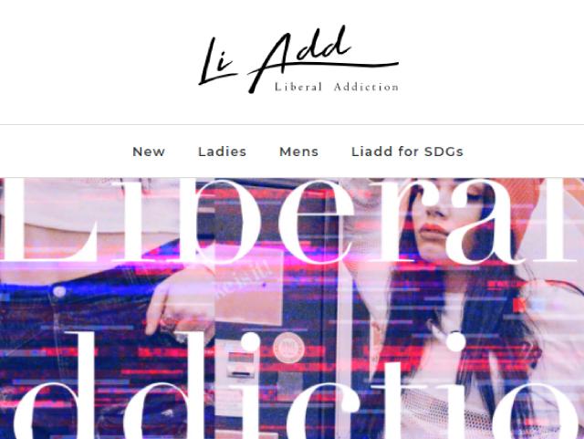 Libberal Addiction公式サイトトップページ